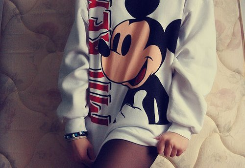 fashion, fashionable, girl, girly, mickey mouse, photography