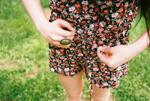 fashion, floral, girl, romper, summer