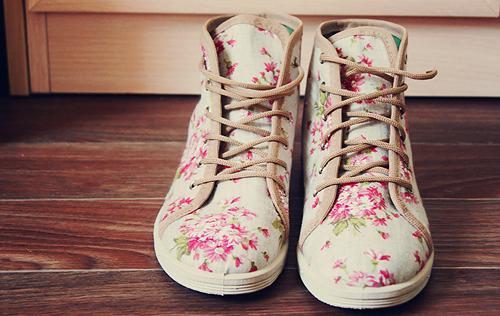 fashion, flowers, shoes, vintage