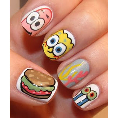fashion, gary, krabby patty, lovely, nail polish
