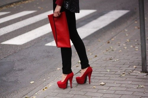 fashion, girl, heels, red, shoes