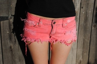 fashion, girl, pink, pretty, shorts