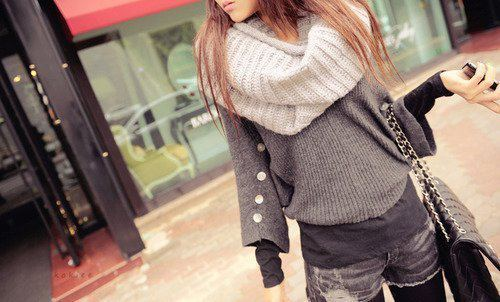 fashion, girl, sweater, sweather