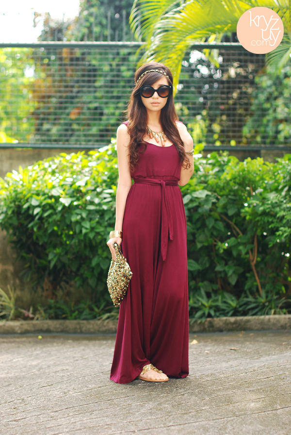 fashion, kryz uy, maxi dress