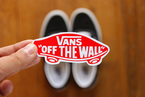 fashion, off the wall, shoes, sneakers, sticker