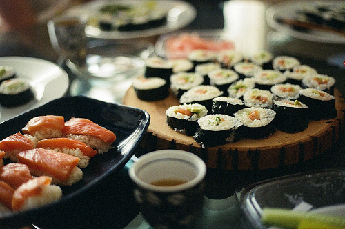 focus, food, ginger, photography, rice, sushi, yum
