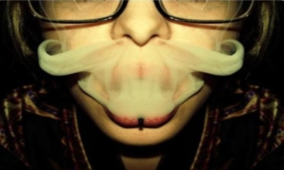 fog, fume, girl, lips, lol