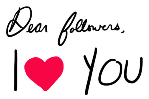 followers, heart, love, you