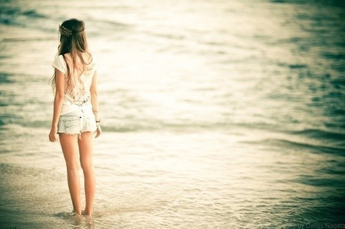 forever, girl, love, sea, unreal, waiting