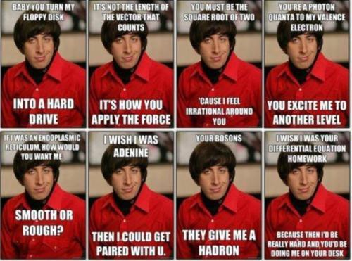funny, howard, lide, nerd, pick up line