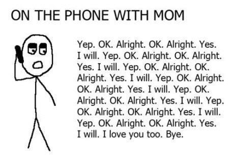 funny, love, mum, phone, quote