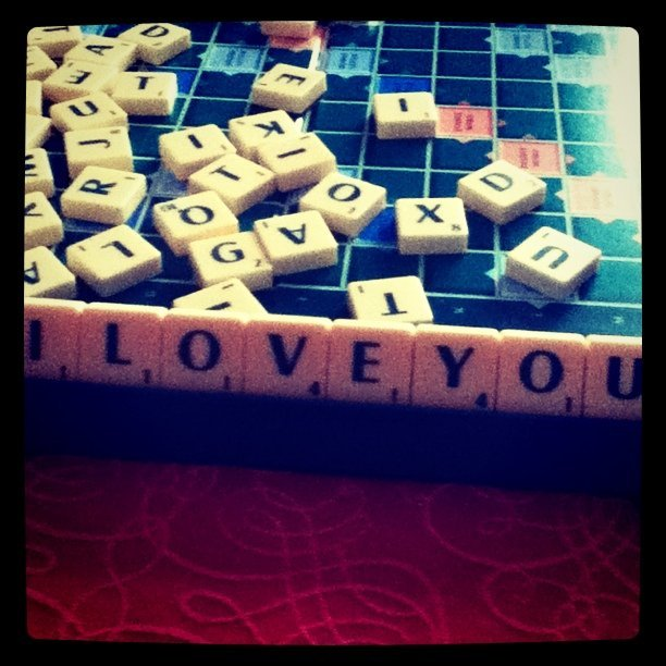 game, i love you, love, scrabble