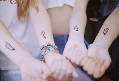 girl, girls, hipster, indie, pretty, tattoo