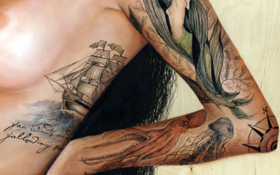 girl, girls-wholike-girls, lesbian, painting, tattoo
