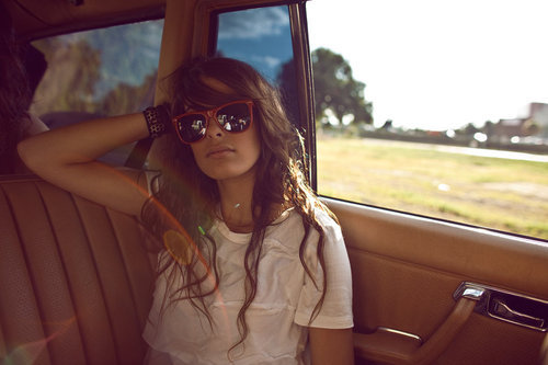girl, glasses, holiday, vintage