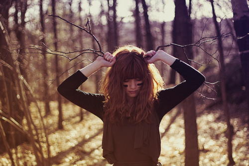 girl, hair, indie, nature, photography, vintage