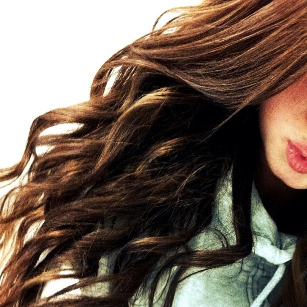 girl, hair, lips