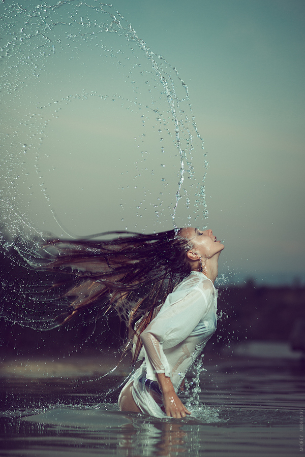 girl, hair, photography, water, wauw