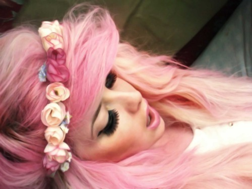 girl, hair, pink, pretty, rose