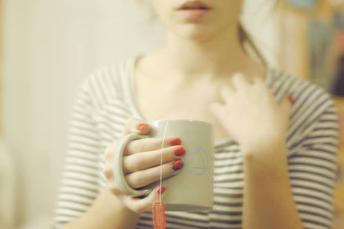 girl, indie, photography, tea, vintage