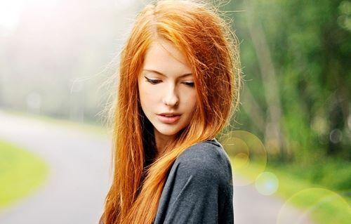 girl, orange hair, photography