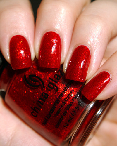 glam, glitter, nail polish, nails, red