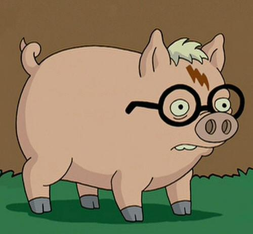 glasses, harry plopper, harry potter, pig, scar, the simpsons