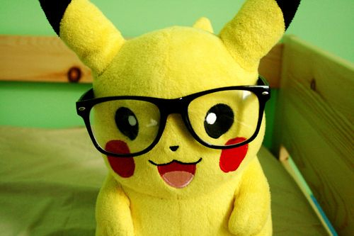 glasses, nerd, photography, pikachu, pokemon
