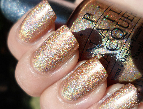 glitter, gold, love, loveit, nail laquer, nali polish, opi, want