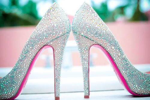 glitter, high heels, shoes