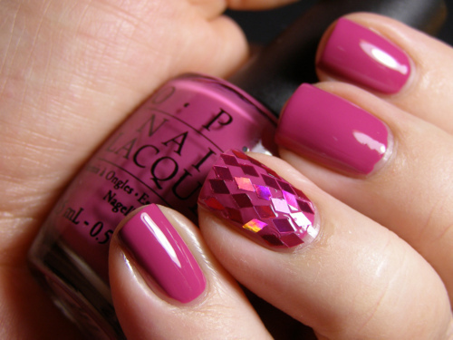 glitter, nails, nice, pink