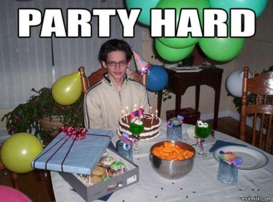 hard, lol, nerd, party