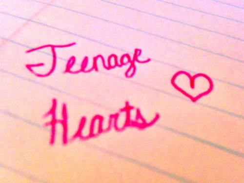 heart, ink, love, pink, teenage