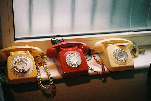 hipster, indie, old, photography, red, telephone, vintage, yellow