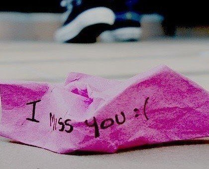 i miss you, love, miss, paper, pink