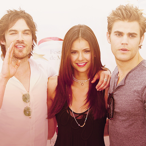 ian somerhalder, nina dobrev, paul wesley, sexy, the vampire diaries