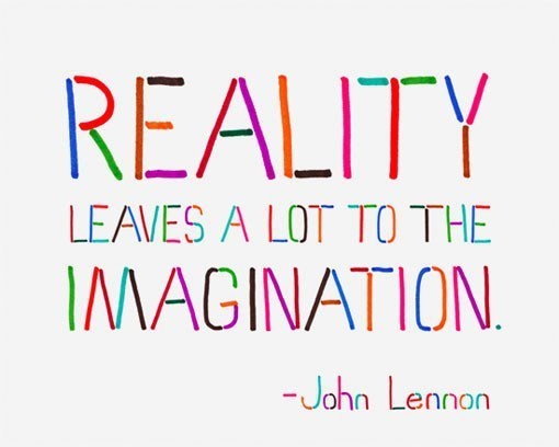 imagination, john lennon, quotes, reality, text