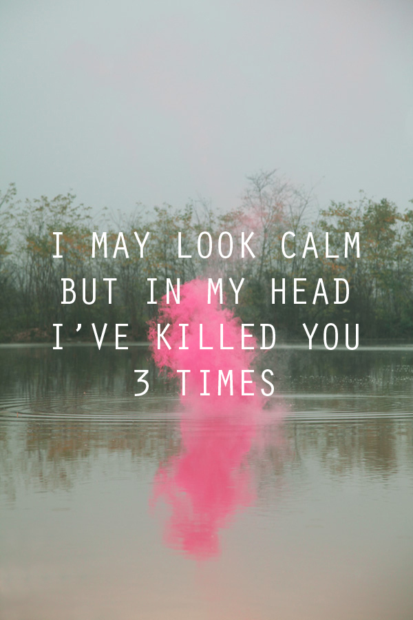 in my head, kill, pink, text