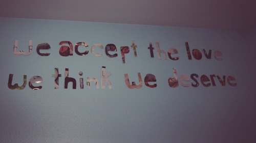 inspiration, love, my wall, perks, perks of being a wallflower