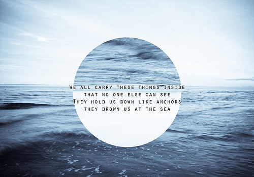 inspirational, ocean, pretty, sea, text