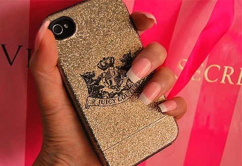 iphone, juicy couture, nails
