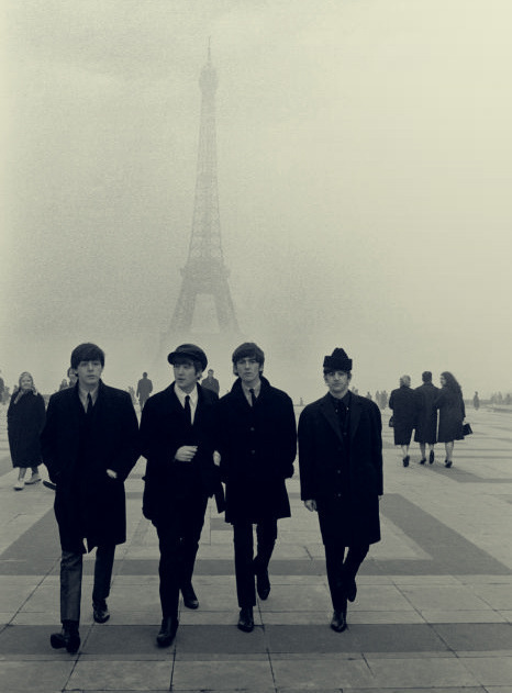 john, paris, paul, ringo, the beatles