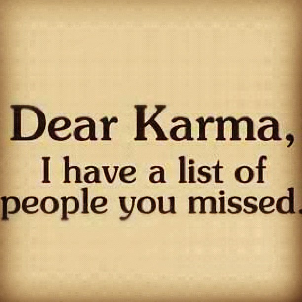 karma, list, misses, people, text