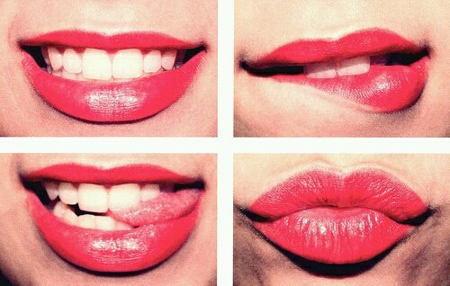 kiss, lips, red, smile