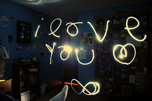 light, love, text