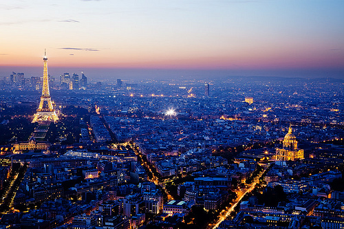 lights, lugares, night, paris