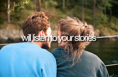listen to your stories, love, the boys who