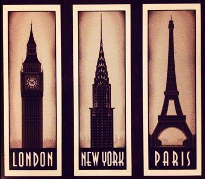 London new york paris