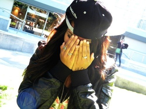 long hair, pretty, snapback, swag - image #446845 on Favim.com