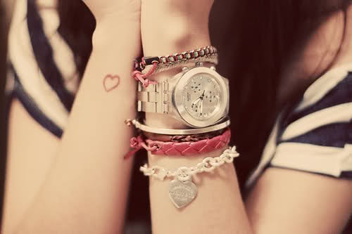 love, necklace, tatoo, watch